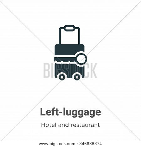 Left-luggage Glyph Icon Vector On White Background. Flat Vector Left-luggage Icon Symbol Sign From M