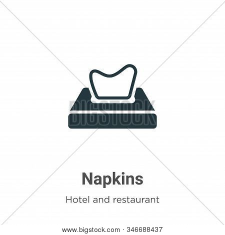 Napkins icon isolated on white background from hotel and restaurant collection. Napkins icon trendy
