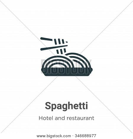 Spaghetti icon isolated on white background from hotel and restaurant collection. Spaghetti icon tre