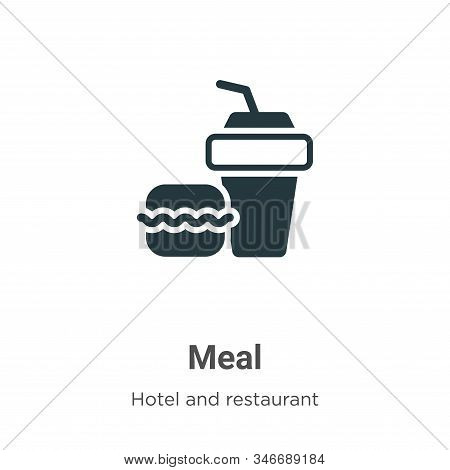 Meal icon isolated on white background from hotel collection. Meal icon trendy and modern Meal symbo