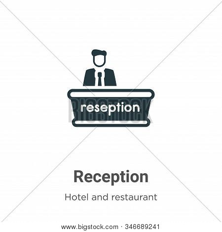 Reception icon isolated on white background from hotel collection. Reception icon trendy and modern