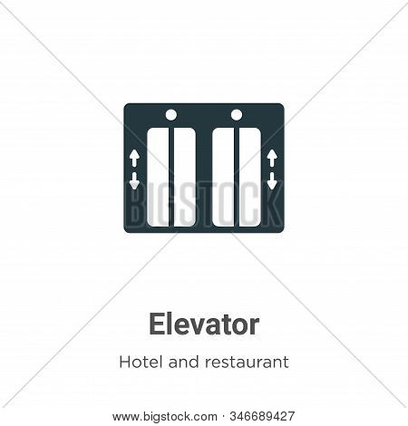 Elevator icon isolated on white background from hotel collection. Elevator icon trendy and modern El
