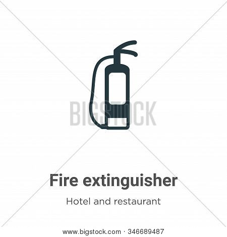 Fire extinguisher icon isolated on white background from hotel collection. Fire extinguisher icon tr