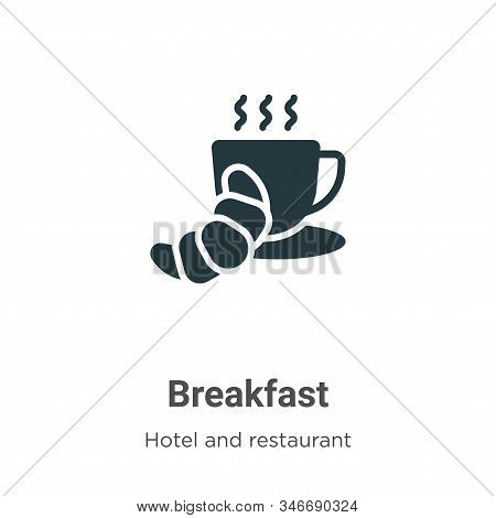 Breakfast icon isolated on white background from accommodation collection. Breakfast icon trendy and
