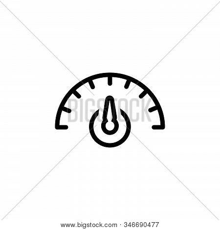 Black Line Icon For Dashboard Ios Speedometer Seo Speed Optimization Indicator Performance