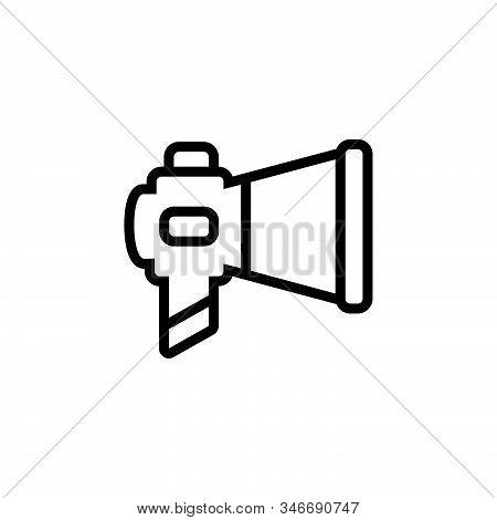 Black Line Icon For Marketing Ios Megaphone Communication Optimization Promotion E-commerce