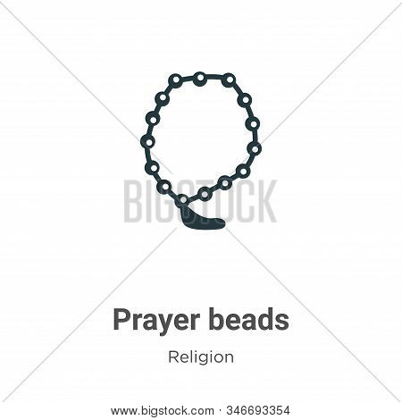 Prayer Beads Glyph Icon Vector On White Background. Flat Vector Prayer Beads Icon Symbol Sign From M