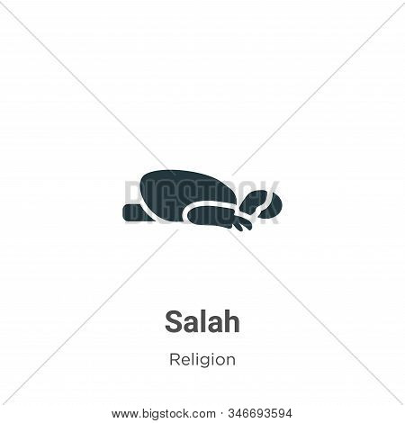 Salah icon isolated on white background from religion collection. Salah icon trendy and modern Salah