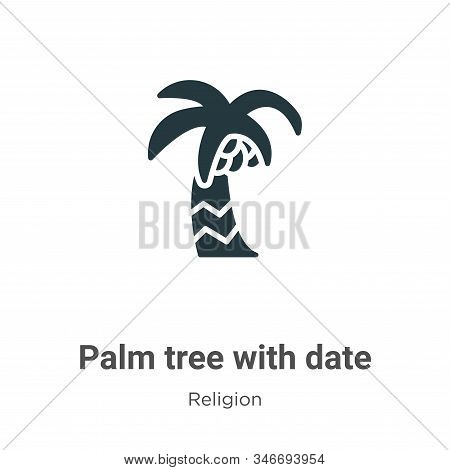 Palm tree with date icon isolated on white background from religion collection. Palm tree with date