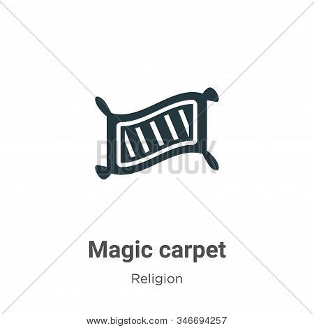 Magic carpet icon isolated on white background from religion collection. Magic carpet icon trendy an