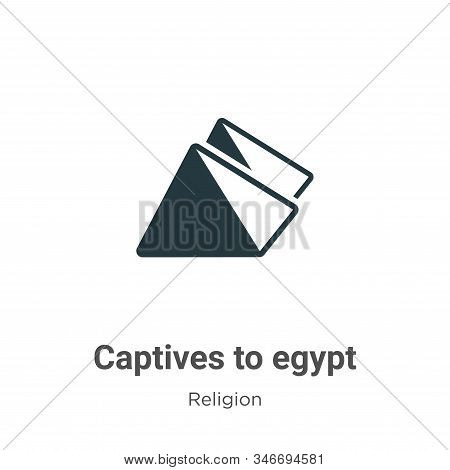 Captives To Egypt Glyph Icon Vector On White Background. Flat Vector Captives To Egypt Icon Symbol S
