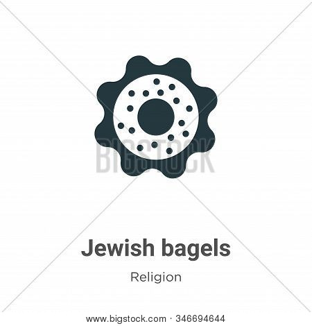 Jewish bagels icon isolated on white background from religion collection. Jewish bagels icon trendy