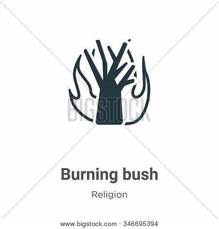 Burning Bush Glyph Icon Vector On White Background. Flat Vector Burning Bush Icon Symbol Sign From M