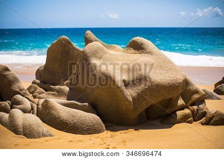 Divorce Beach is a popular tourist destination off the coast of Cabo San Lucas on the Baja Californi