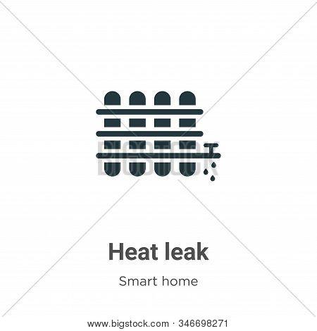 Heat Leak Glyph Icon Vector On White Background. Flat Vector Heat Leak Icon Symbol Sign From Modern