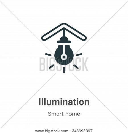 Illumination icon isolated on white background from smart home collection. Illumination icon trendy