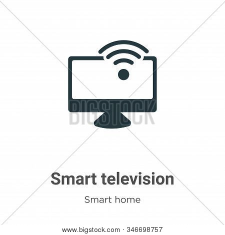Smart television icon isolated on white background from smart home collection. Smart television icon