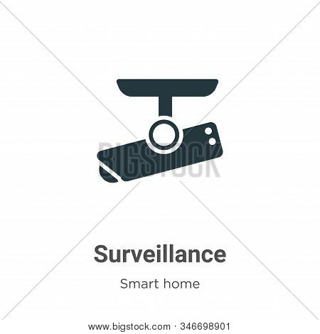 Surveillance icon isolated on white background from smart home collection. Surveillance icon trendy