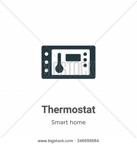 Thermostat icon isolated on white background from smart house collection. Thermostat icon trendy and