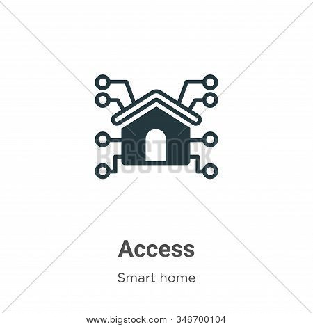 Access Glyph Icon Vector On White Background. Flat Vector Access Icon Symbol Sign From Modern Smart
