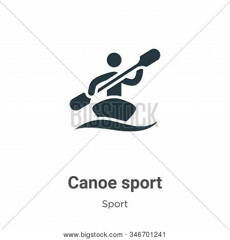 Canoe sport icon isolated on white background from sport collection. Canoe sport icon trendy and mod