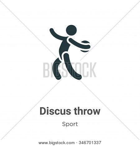 Discus Throw Glyph Icon Vector On White Background. Flat Vector Discus Throw Icon Symbol Sign From M