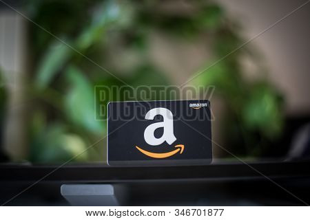 Washington, D.c. / Usa - July 10, 2019: A $50 Amazon Gift Card Allows The Recipient To Purchase Item