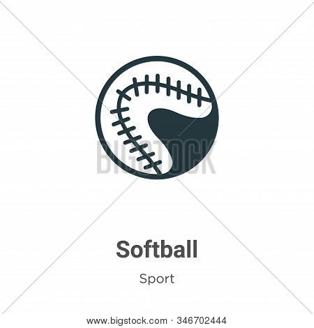 Softball icon isolated on white background from sport collection. Softball icon trendy and modern So