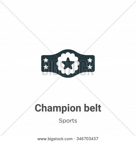 Champion belt icon isolated on white background from sports collection. Champion belt icon trendy an