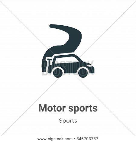 Motor sports icon isolated on white background from sports collection. Motor sports icon trendy and
