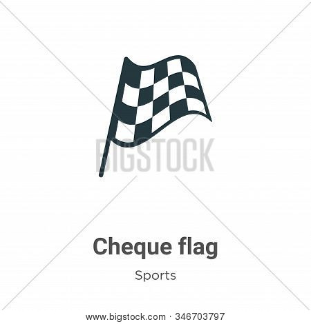 Chequered flag icon isolated on white background from sports collection. Chequered flag icon trendy