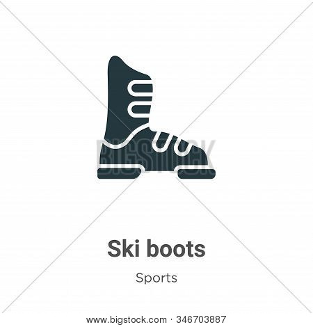 Ski boots icon isolated on white background from sports collection. Ski boots icon trendy and modern