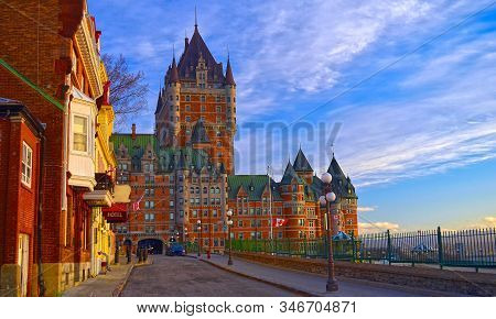 Early Morning View Of The Château Frontenac, Quebec City, Quebec, Canada
