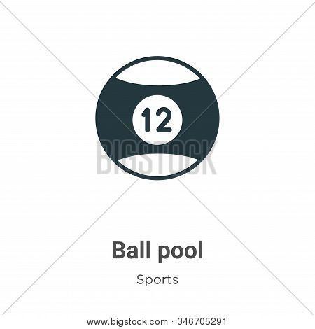 Ball pool icon isolated on white background from sports collection. Ball pool icon trendy and modern