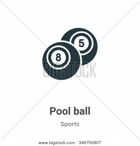 Pool ball icon isolated on white background from sports collection. Pool ball icon trendy and modern