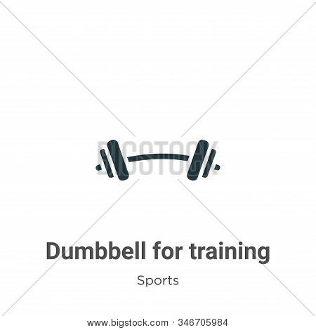 Dumbbell for training icon isolated on white background from sports collection. Dumbbell for trainin