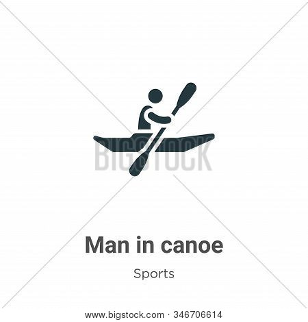 Man in canoe icon isolated on white background from sports collection. Man in canoe icon trendy and