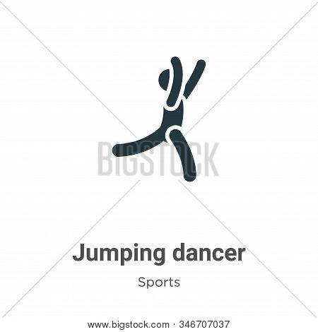 Jumping dancer icon isolated on white background from sports collection. Jumping dancer icon trendy