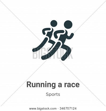 Running a race icon isolated on white background from sports collection. Running a race icon trendy