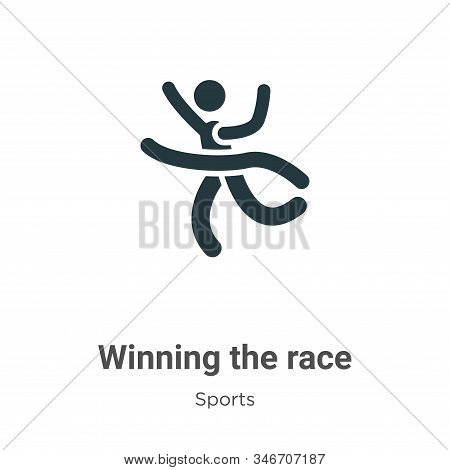 Winning the race icon isolated on white background from sports collection. Winning the race icon tre