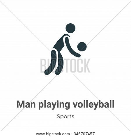 Man playing volleyball icon isolated on white background from sports collection. Man playing volleyb