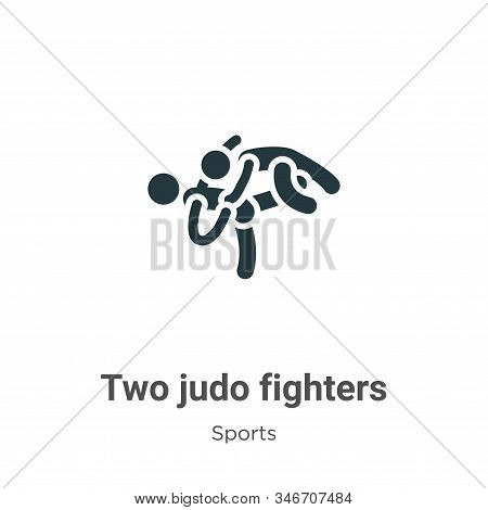 Two judo fighters icon isolated on white background from sports collection. Two judo fighters icon t