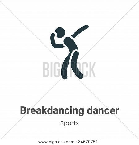 Breakdancing dancer icon isolated on white background from sports collection. Breakdancing dancer ic