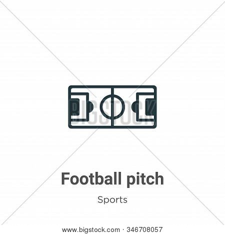 Football Pitch Glyph Icon Vector On White Background. Flat Vector Football Pitch Icon Symbol Sign Fr