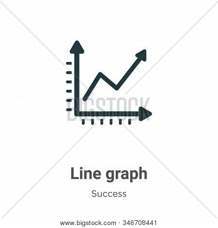Line graph icon isolated on white background from success collection. Line graph icon trendy and mod