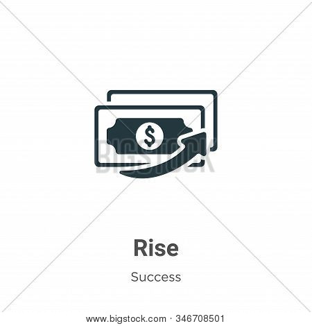 Rise icon isolated on white background from success collection. Rise icon trendy and modern Rise sym