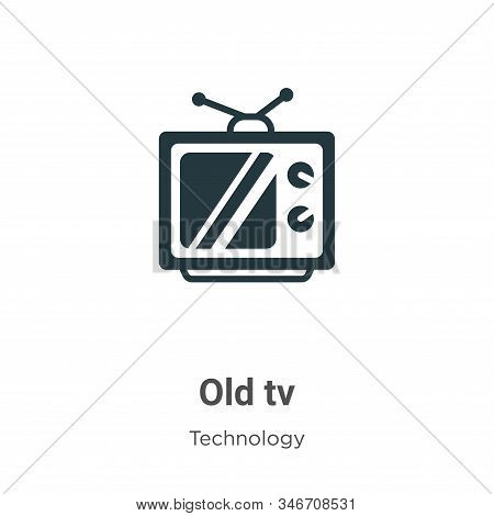 Old tv icon isolated on white background from technology collection. Old tv icon trendy and modern O