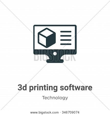 3d printing software icon isolated on white background from technology collection. 3d printing softw