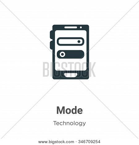 Mode icon isolated on white background from technology collection. Mode icon trendy and modern Mode