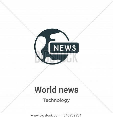 World news icon isolated on white background from technology collection. World news icon trendy and